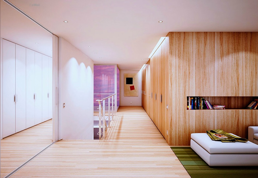 interior home design by wood