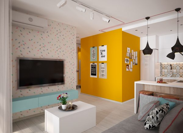 Yellow living room ideas
