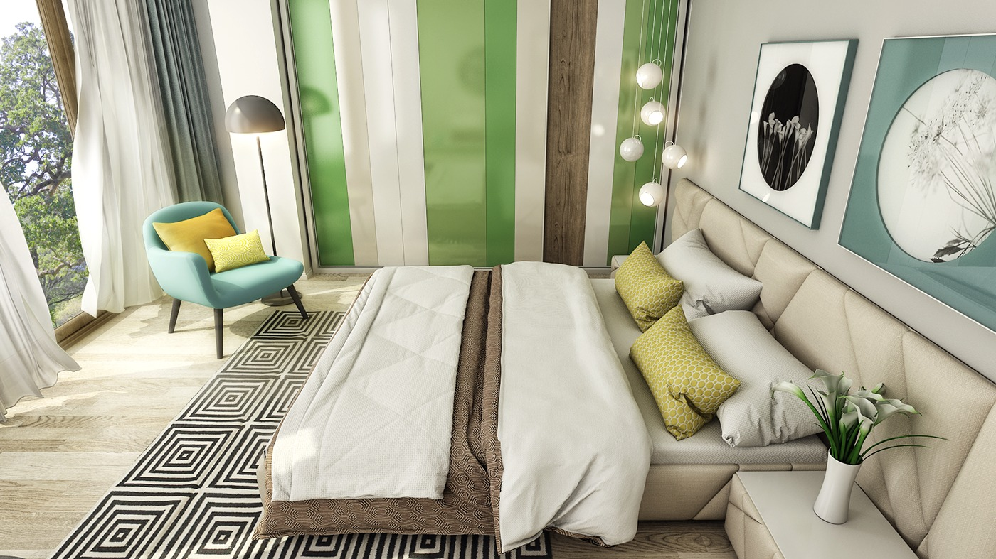 perfect wall feature bedroom design