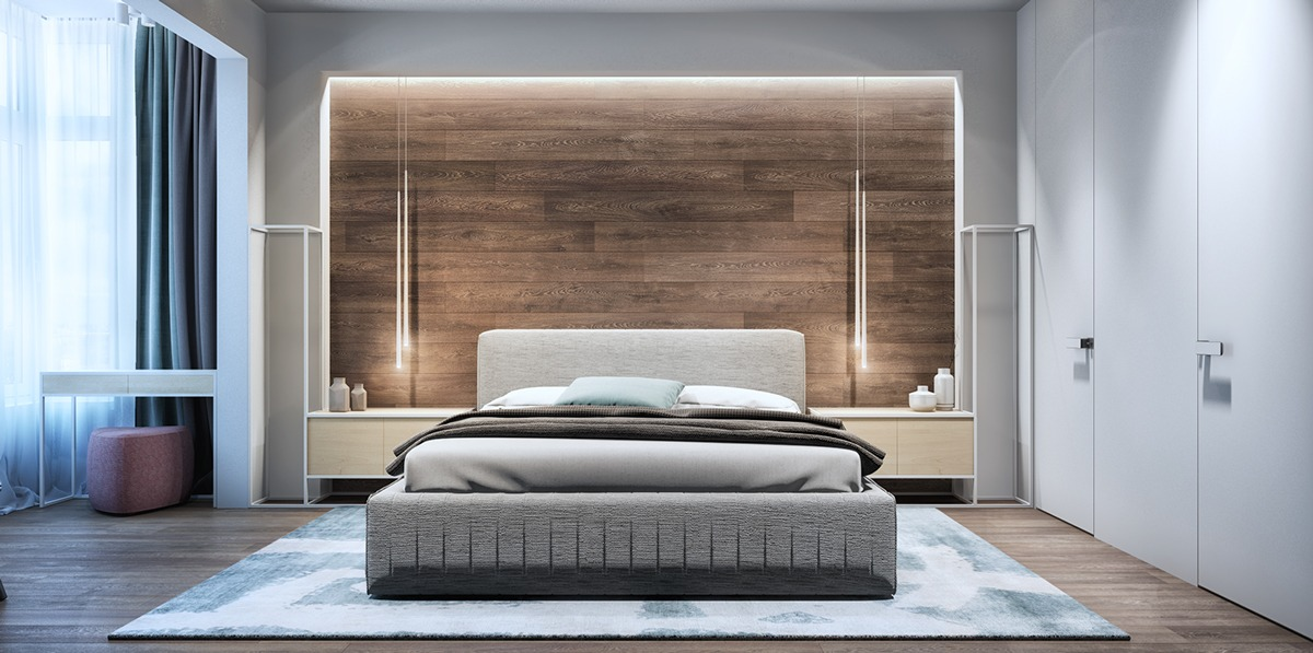 Ideas for bedroom with dark furniture romantic master bedroom ideas - Luxury Apartment Interior Designs For Young Couples