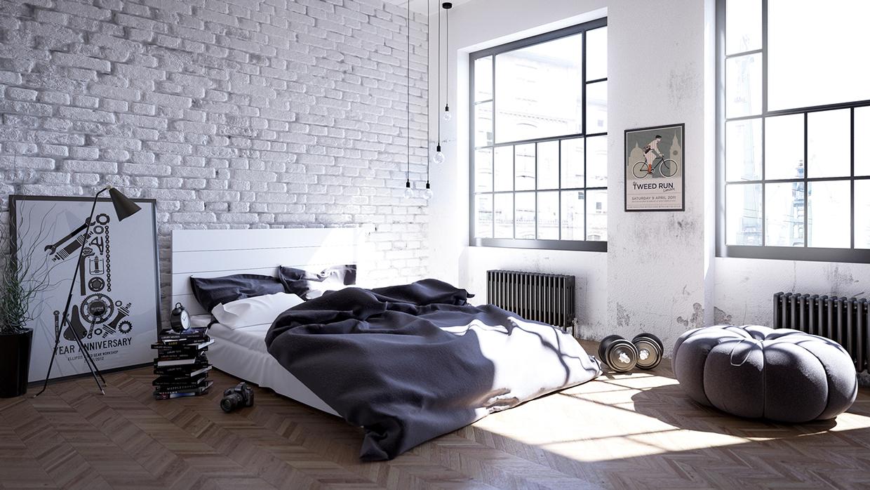 Scandinavian interior bedroom designs