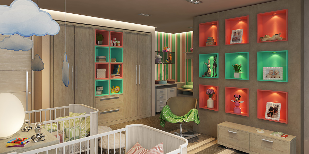 nature wall for kids room