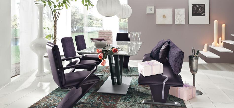 modern black dining room concept