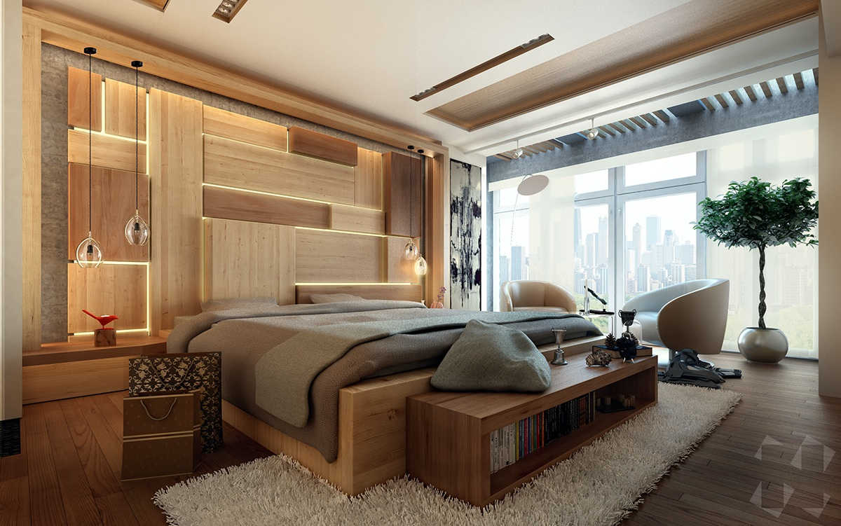 Stunning Bedroom Lighting Design Which Makes Effect Floating Of The ...