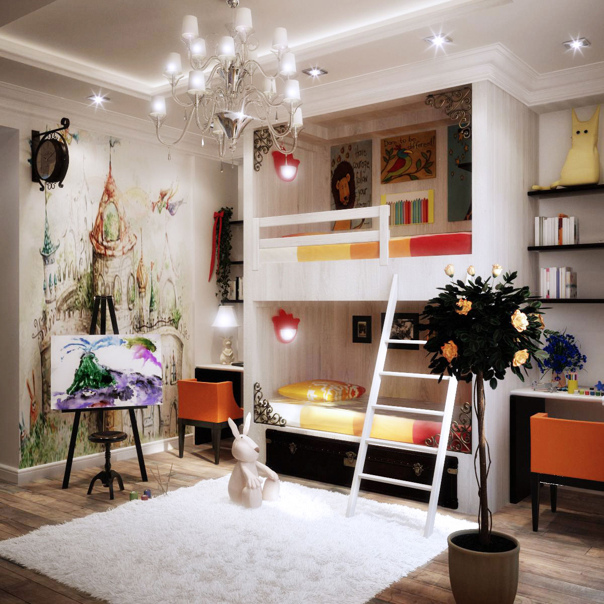 Kids Room Decorating Ideas With Colorful Theme Looks