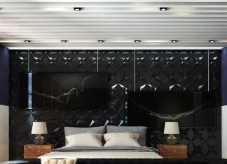 bedroom wall texture design
