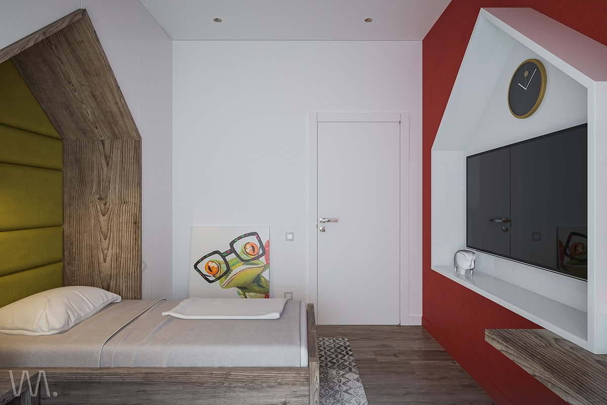 Imaginative Kids Room Design Ideas With Cartoon Wallpaper