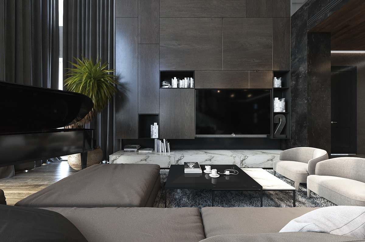 Dark interior design style