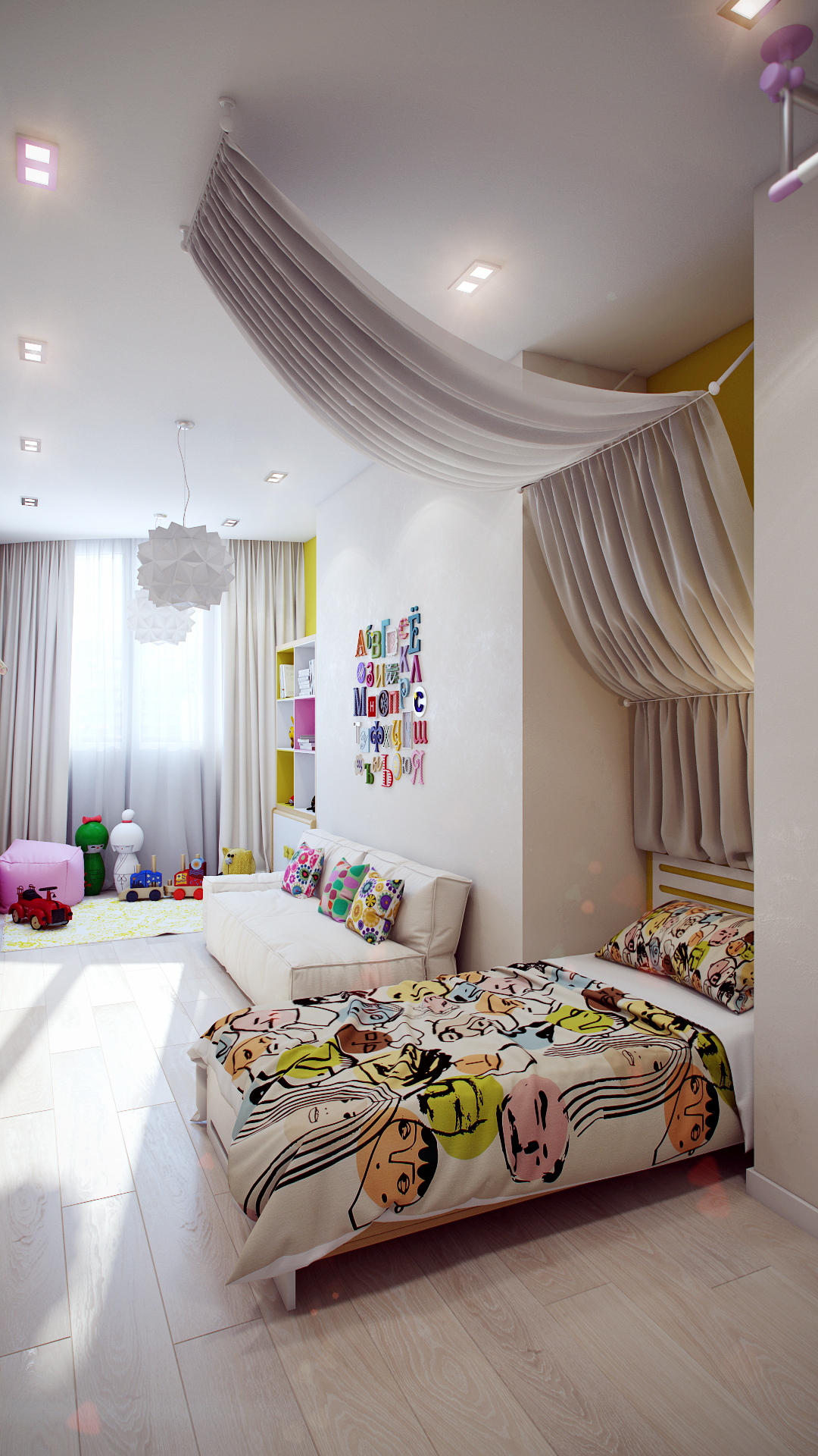 Attractive Girls Bedroom Decorating Ideas With Beautiful ... on Girls Bedroom Ideas  id=47409