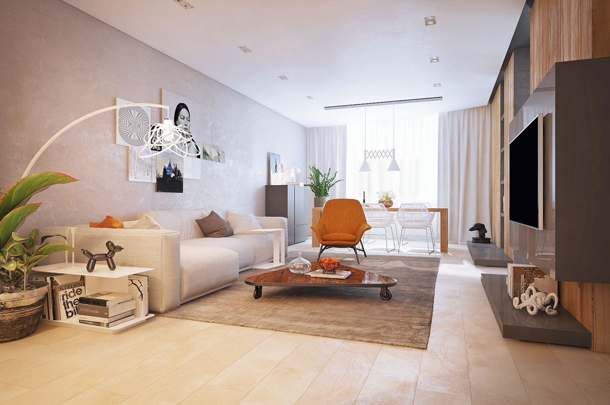 The best arrangement of apartment decorating ideas with for Minimalist apartment design