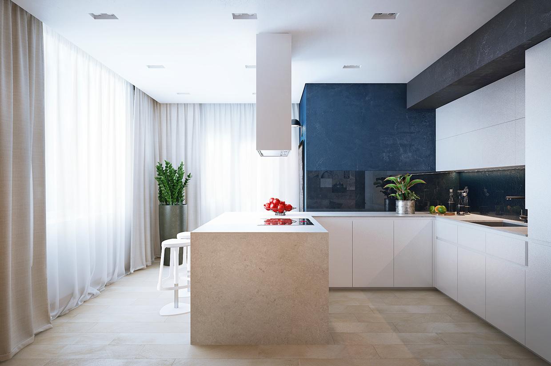 charming pastel kitchen design