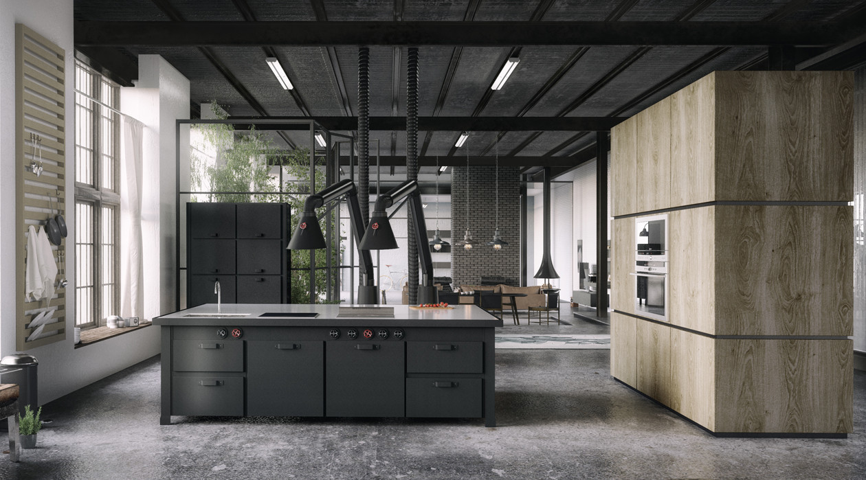 dark stunning kitchen design