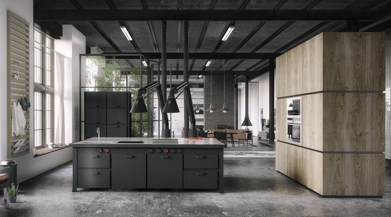 dark stunning kitchen design