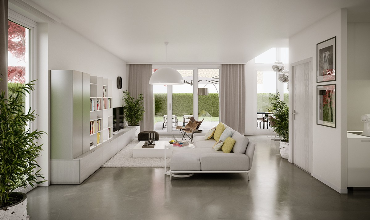 living room design looks modern
