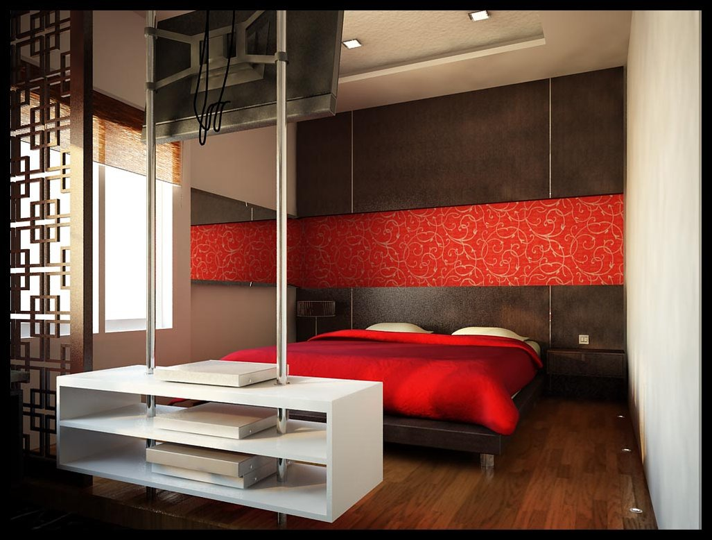 Red bedroom designs ideas - Zigshot82 Beautiful Red Bedroom Design