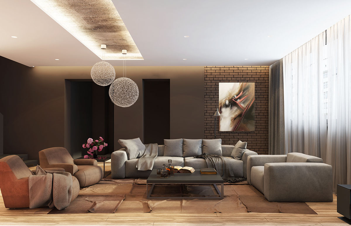 Beautiful living room concept