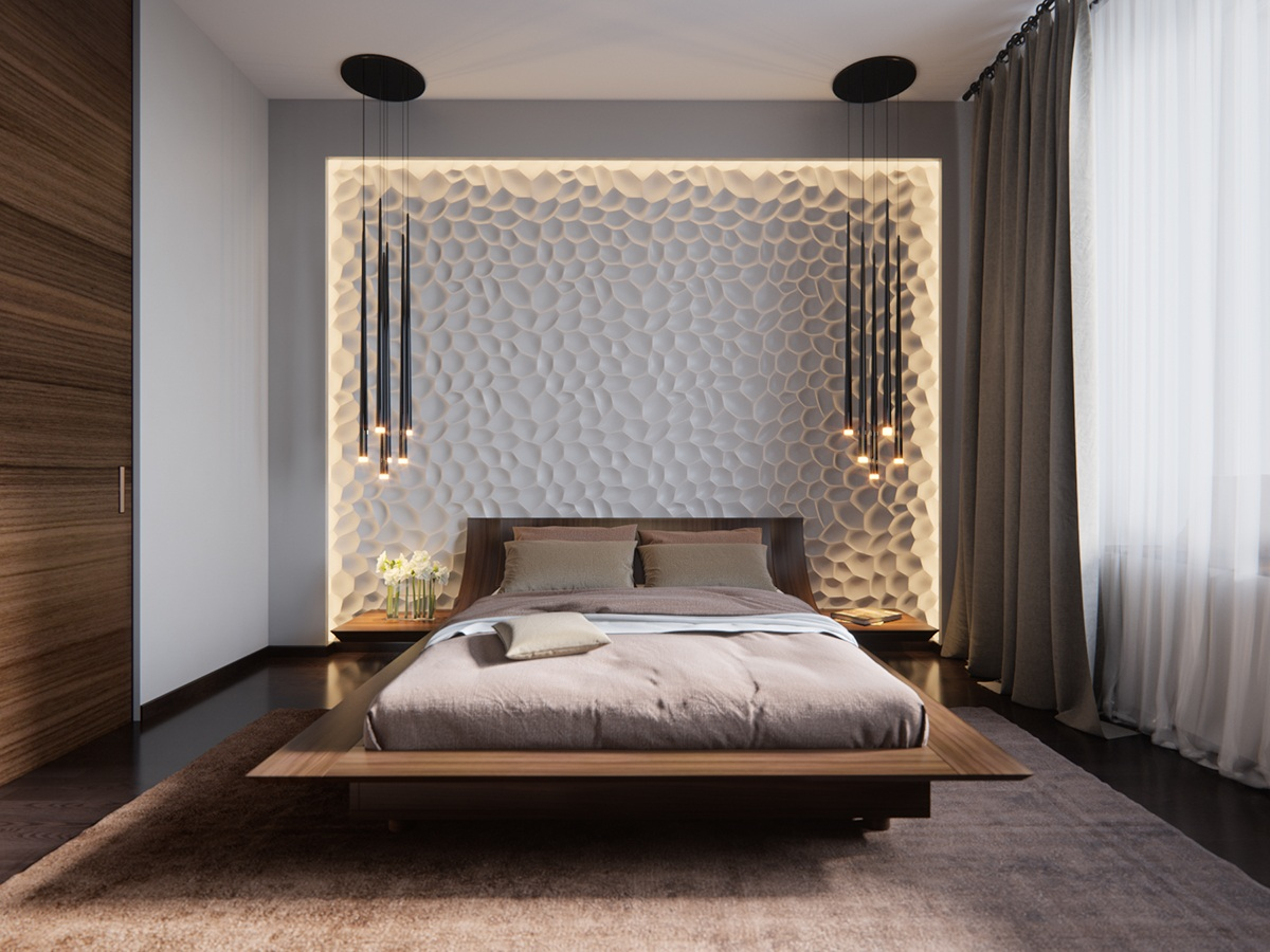 luxurious blue bedrooms great character light. Wladimir Sapyan Stunning Lighting Brings Floating Effect Luxurious Blue Bedrooms Great Character Light