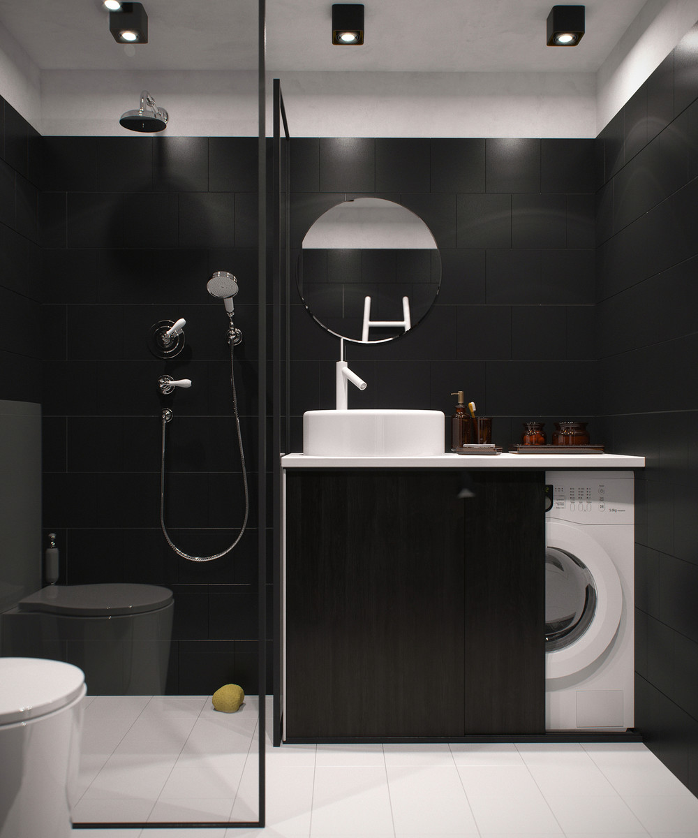 choosing a dark color theme for tiny apartment design - roohome