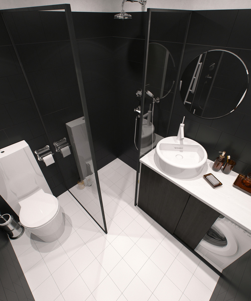 dark bathroom design idea