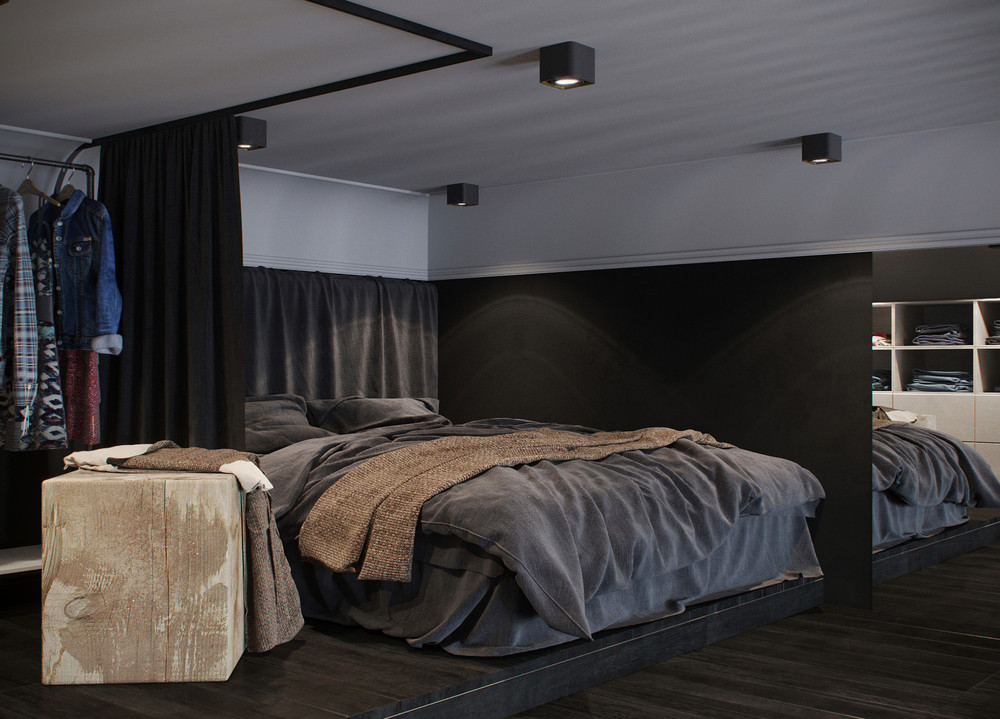 dark color bedroom design