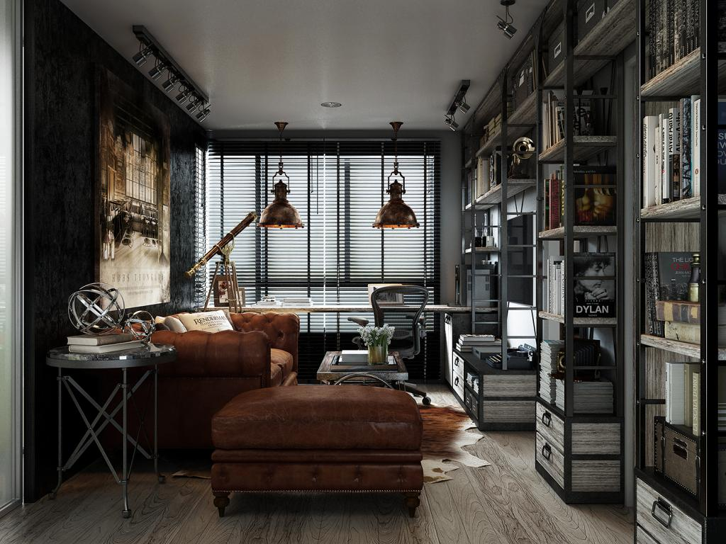dark color concept for apartment
