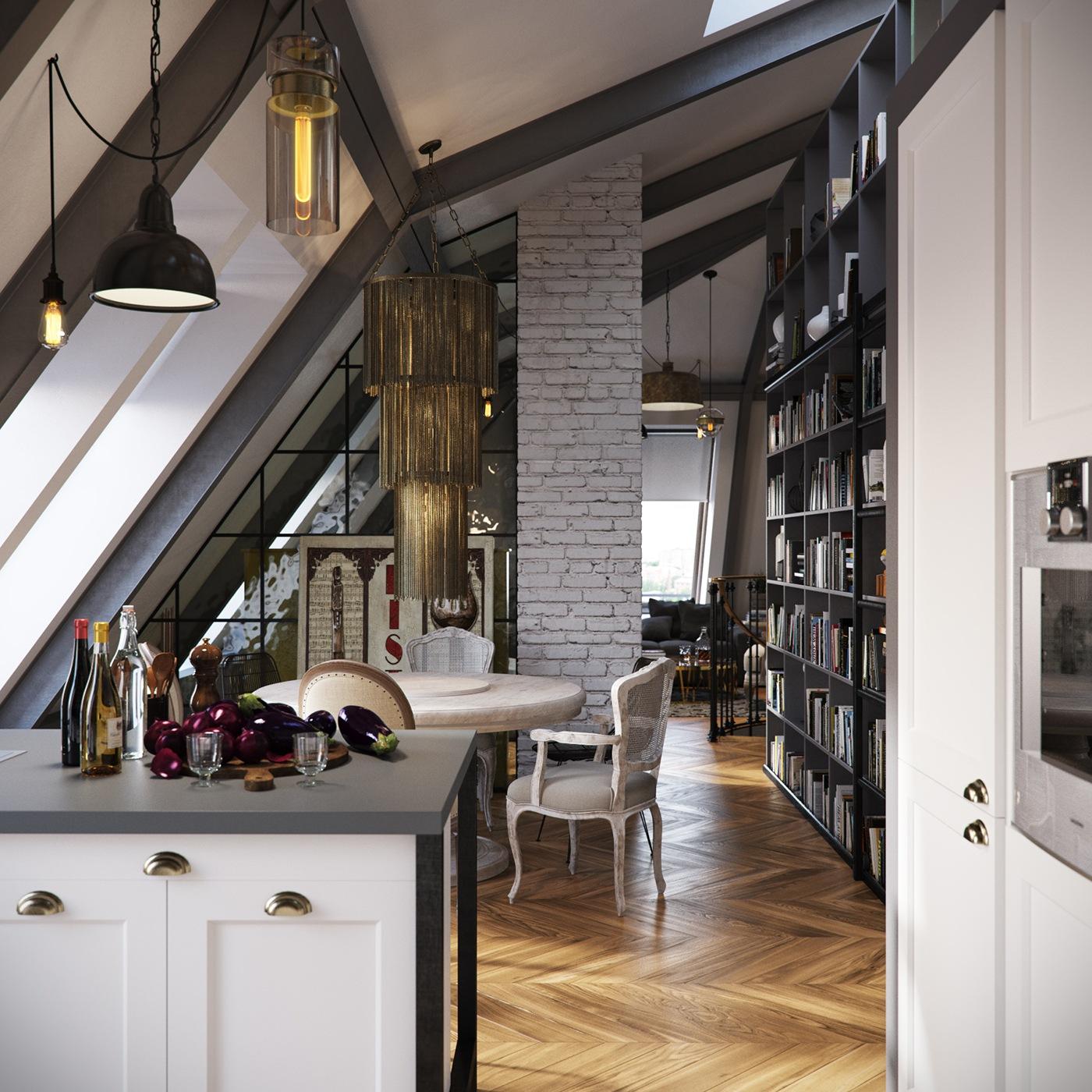 brick accents for apartment design