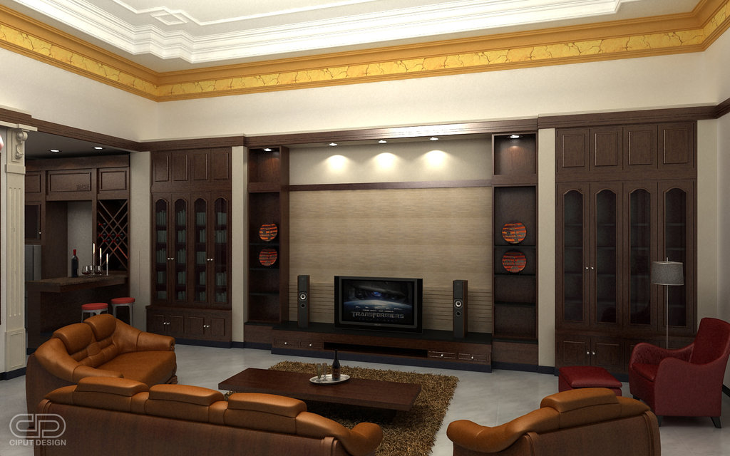 home theatre design for a living room