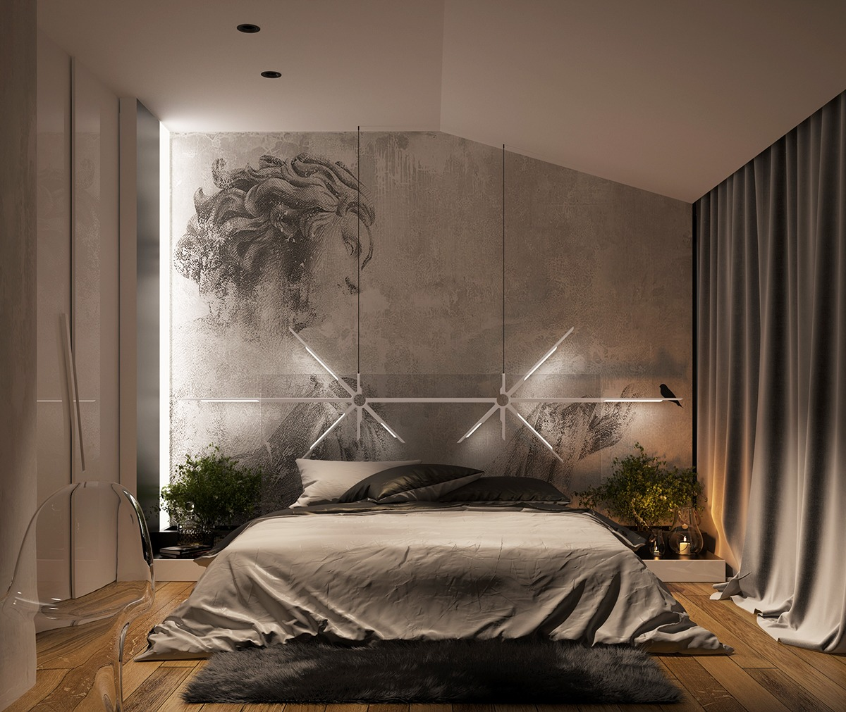 stunning lighting for bedroom