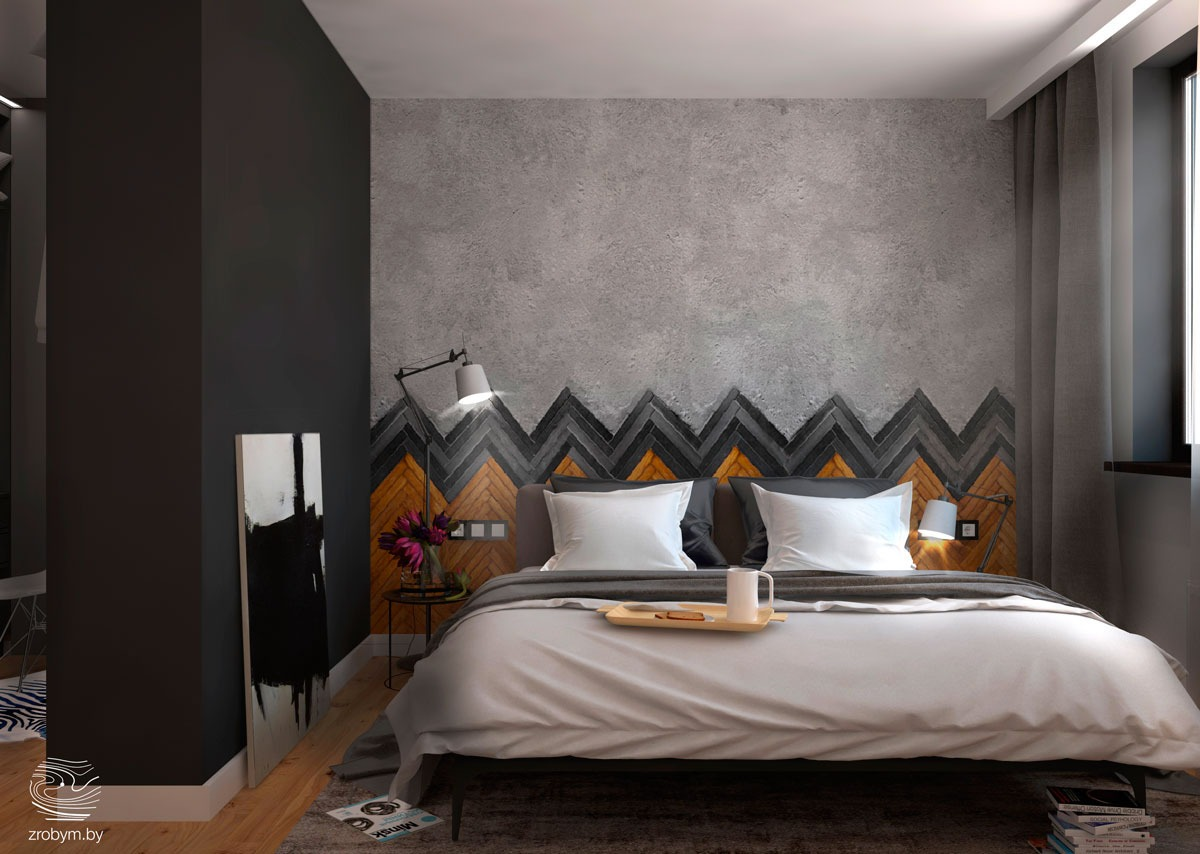 unique bedroom texture wall