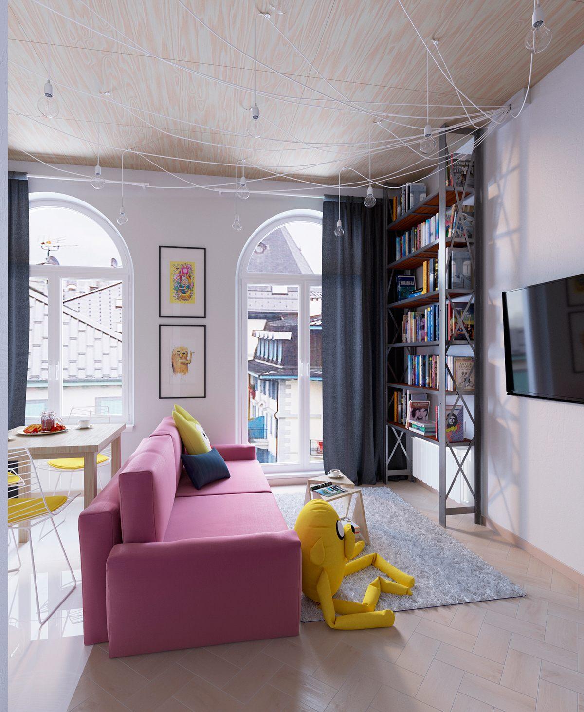 Colorful apartment interior design