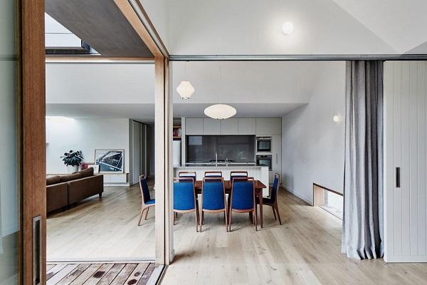 Aesthetic dining room design by Freedman White
