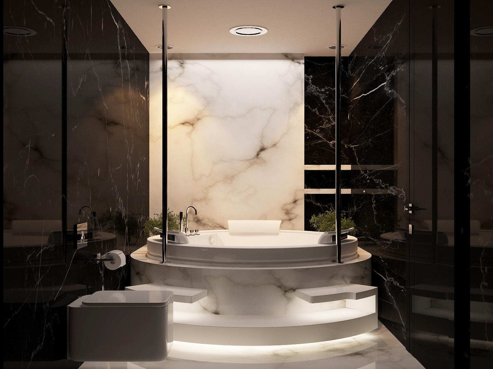 Marble bathroom design