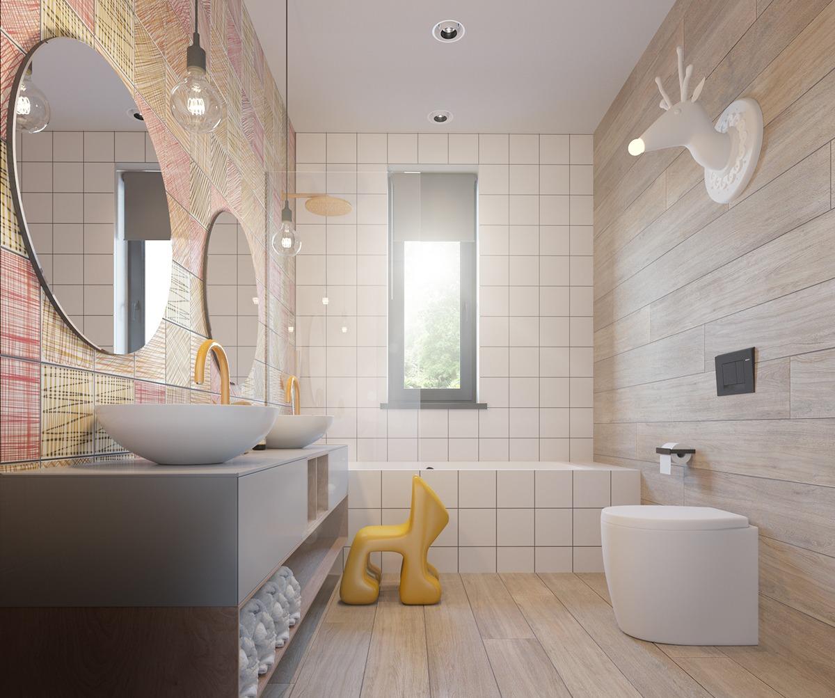 Cute bathroom theme