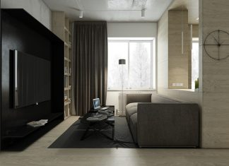 Dark apartment design