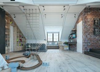 Boys nursery loft design