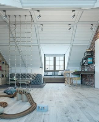 Boys nursery loft design