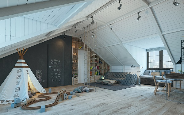 Boys nursery design shows adventure vibe