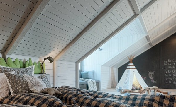 Boys nursery loft design with creative idea