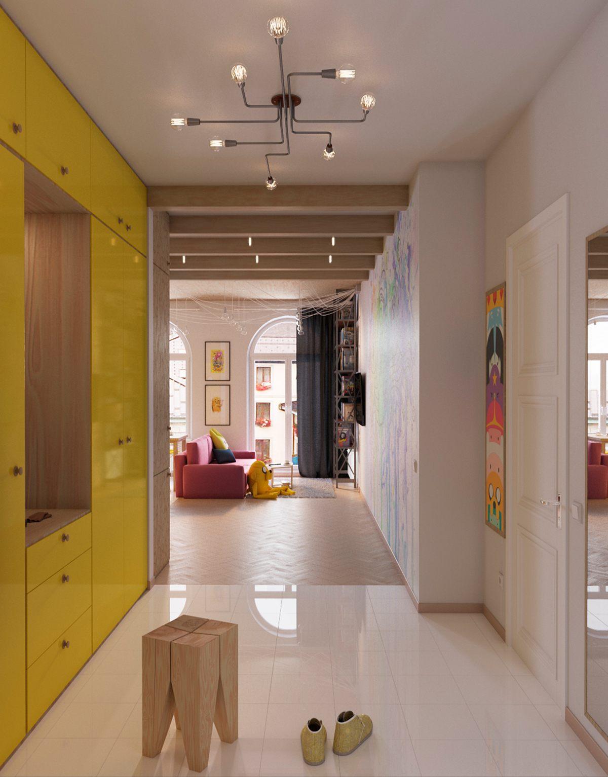 Colorful entryway ideas