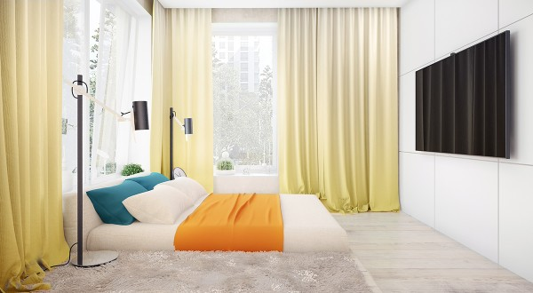 Colorful bedroom theme