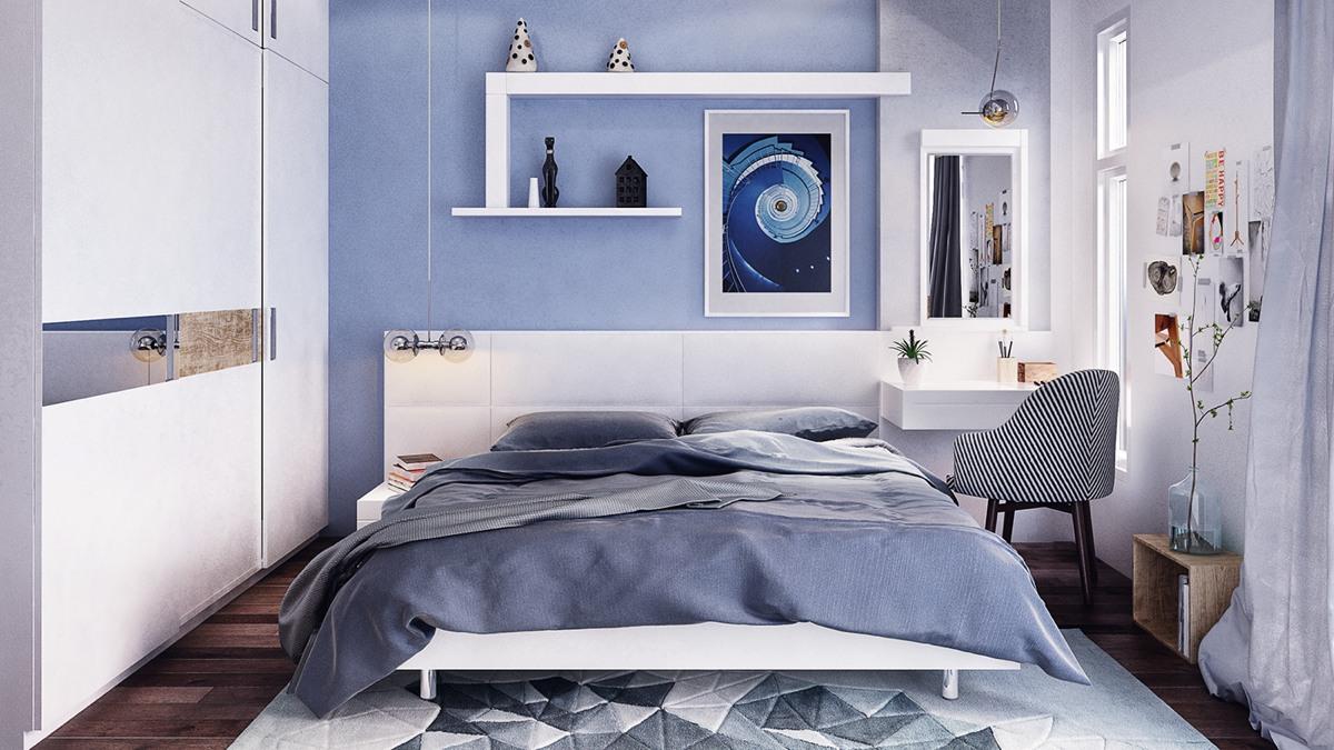 Blue bedroom design