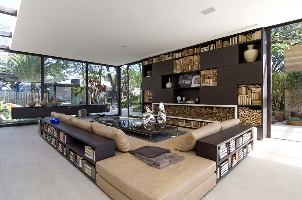 Creative Living Room Design By Using A Modernist Interior Inside Of