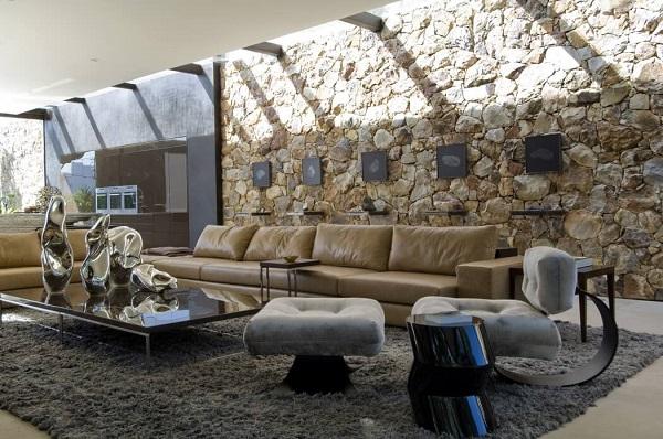 Creative living room design by using modernist interior