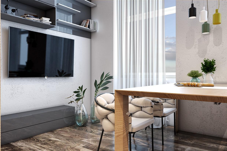 Minimalist apartment interior design