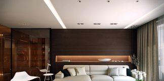 Dark modern interior design