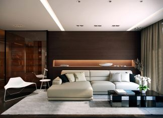 Dark modern interior design