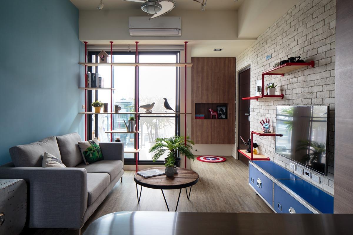 Unique Apartment Designs Ideas With Superhero Decor