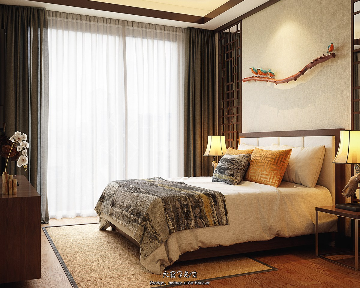 Chinese bedroom designs ideas