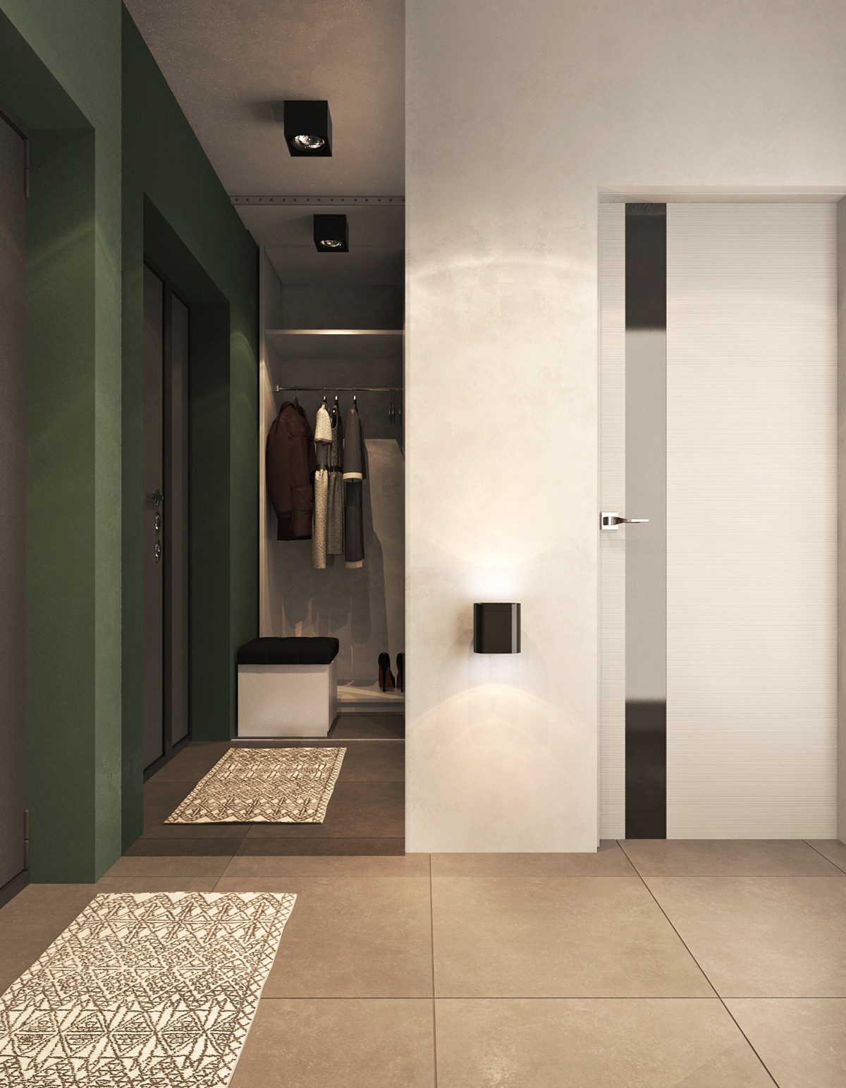 Green entryway theme