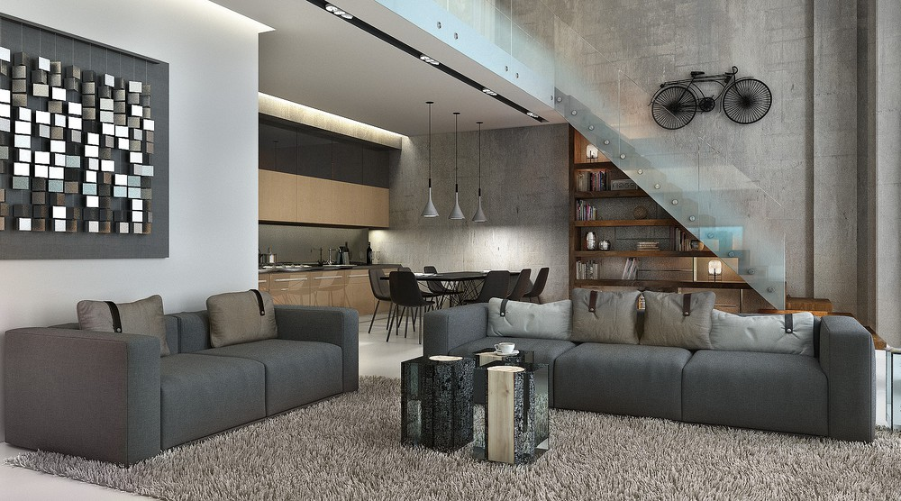 Gray apartment interior ideas
